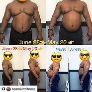 #Repost _teamkimfitness with _get_repost_・・・_#transformationtuesday I'm so proud of this g
