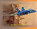Blue Angel F-18 Hornet hand drawn & digi