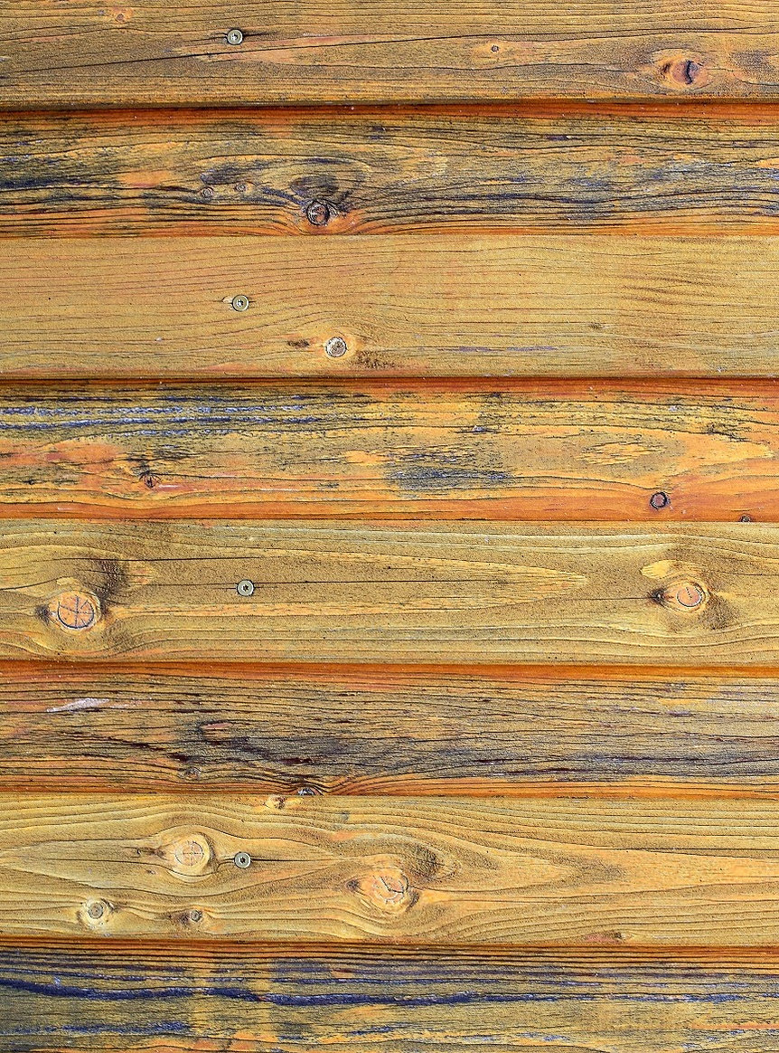 old wooden background in ochre color._ed
