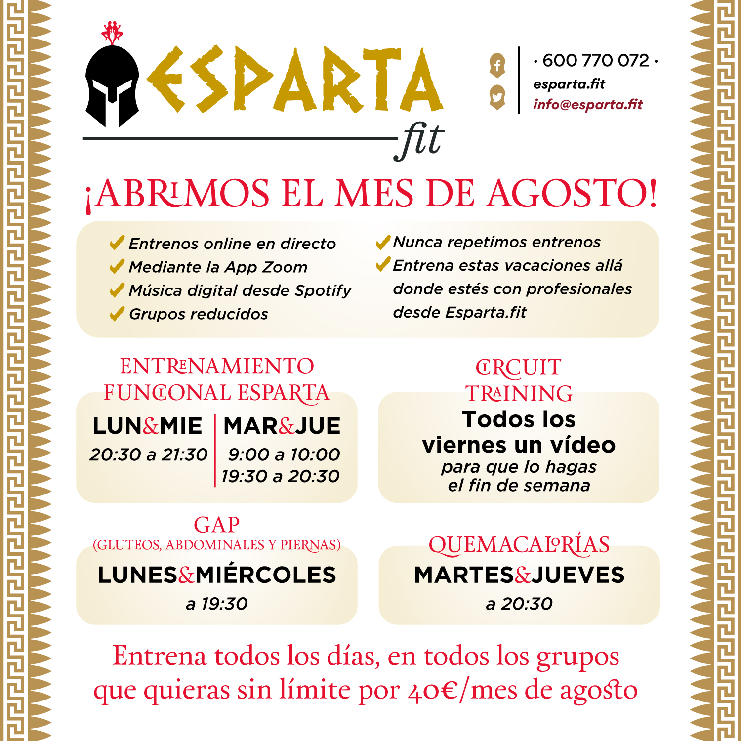 BANNER AGOSTO ESPARTA FIT 27JUL20