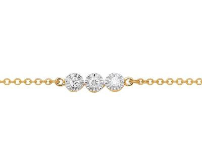 Bracelet Trio - Or 18k & Diamants