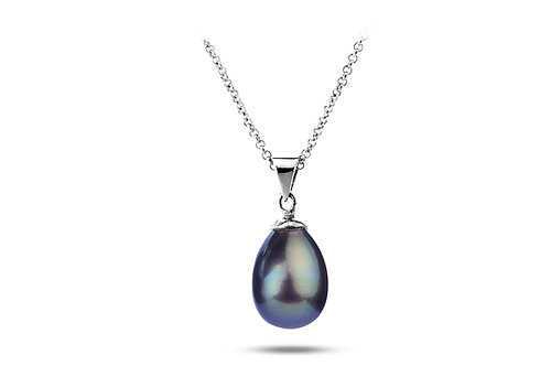 Collier pendentif perle d'eau douce  (10 mm)