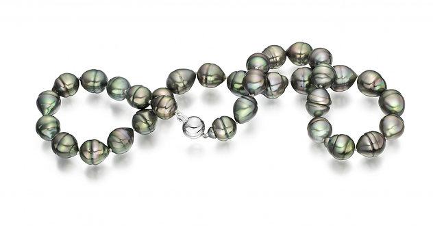 Collier de perles de Tahiti baroque (9-11 mm)