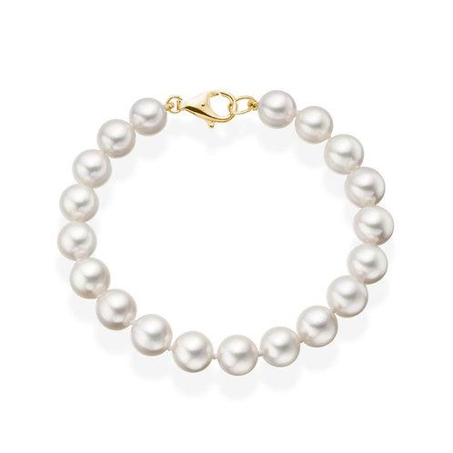 Bracelet perles Akoya blanches (4-5 mm)