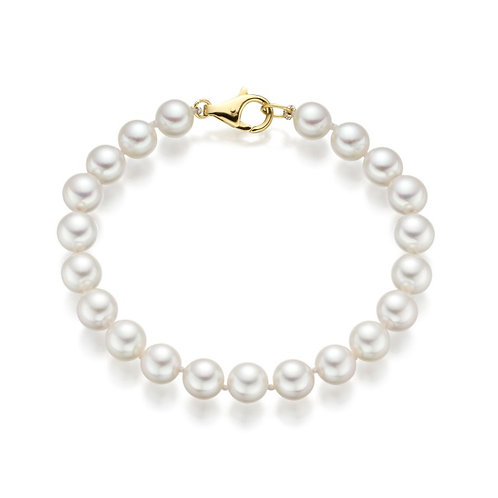 Bracelet perles Akoya blanches (7-7,5 mm)