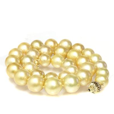 Collier de perles d'Australie dorées (9-12 mm)