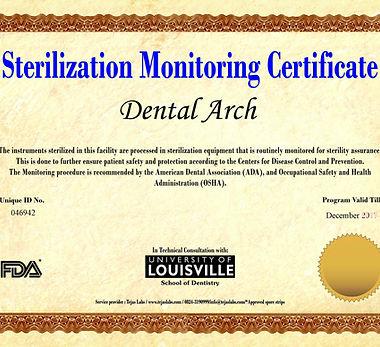 sterilization moniroting certificate university of louisville