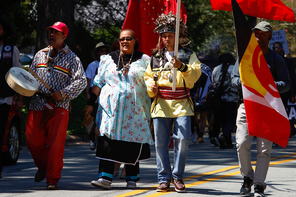 hillsborough north carolina, american indian movement, hate-free march