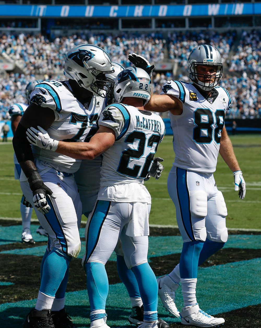 greg olsen, christian mccaffrey, panthers, NFL