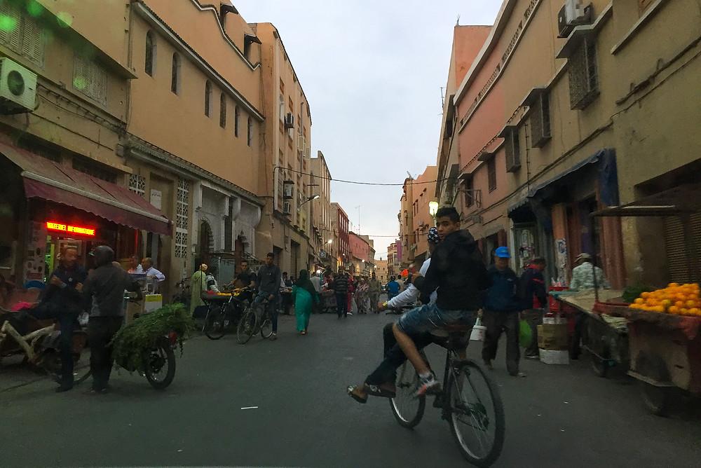 taroudant, morocco, souk, bike, oranges