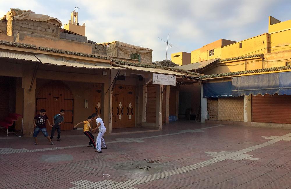 taroudant, morocco, square, football, souk