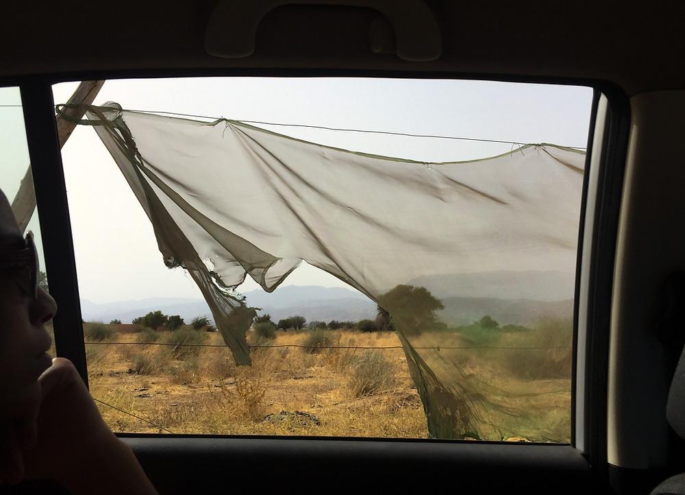 taroudant, morocco, window, mountains