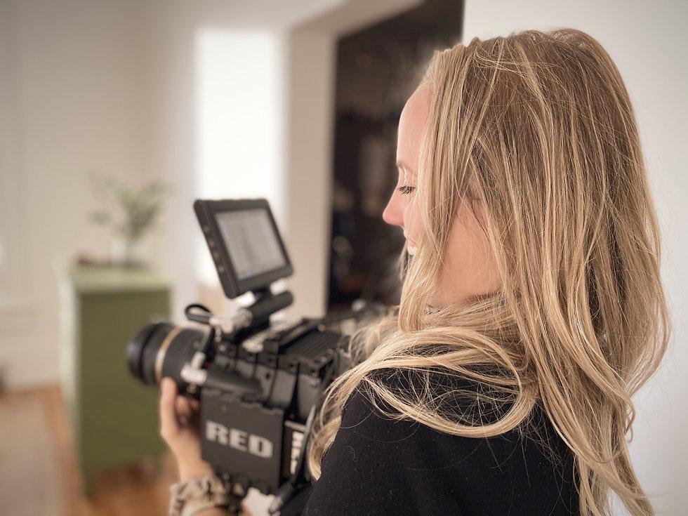Female Filmmaker, Freelance director, freelance film director, camera, film set, filming