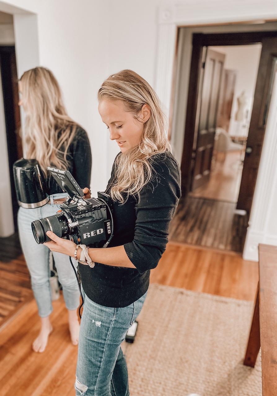 camera, film set, female, freelance, director