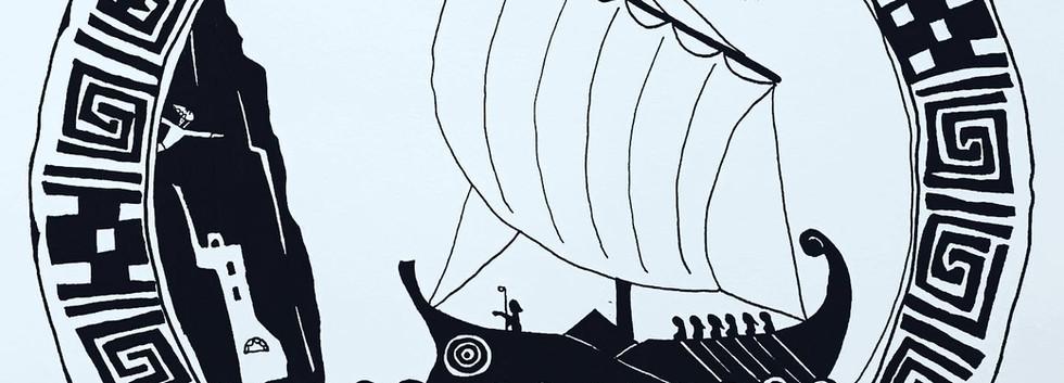 Team Savres sails to Amorgos.