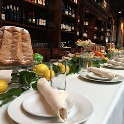 Italian Christmas table set up