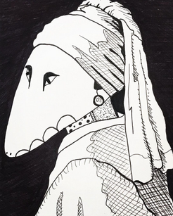lizard with pearl earring.png
