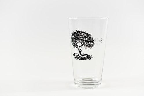 Swilled Dog Logo Glass