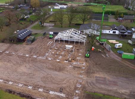 Start nieuwbouw uitbreiding Paardenkliniek Venlo