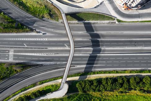 Fotografia Aérea (drone) - Construção de viaduto em Almada
