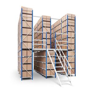 Indústria - estantes de armazenamento