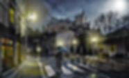 Imagem exemplificativa de uma fotomontagem feita em Photoshop com transformação de uma fotografia de dia em noite.