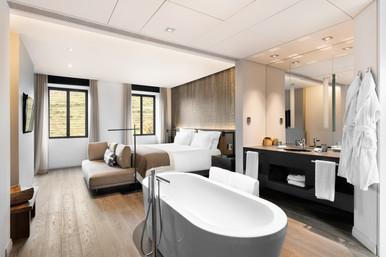 Fotografia de Interiores - Quarto de hotel no Douro