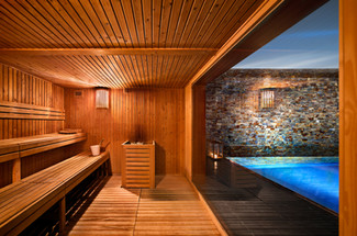 Fotografia de Interiores - Sauna em hotel no Alentejo