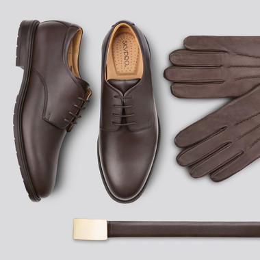 Fotografia de produto - Calçado (sapato, luvas e cinto)