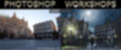 Imagem demonstrativa de um exercício de Photoshop para promover workshops