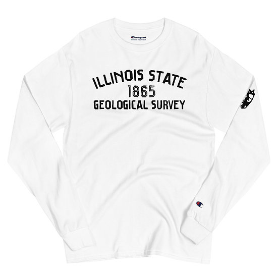 Edward Cope Illinois State Geological Survey 1865 Men's Champion w/Skull (White)