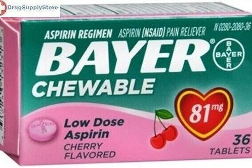 *BAYER ASPIRIN CHEW 36 CHRY