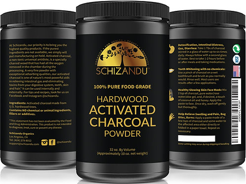 ACTIVATED CHARCOAL POWDER 32OZ