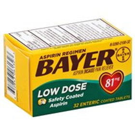 *BAYER 81MG LOW DSE 32'S