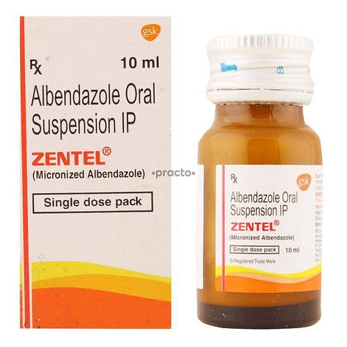 ZENTEL/ALBENDAZOLE 10ML LIQUID
