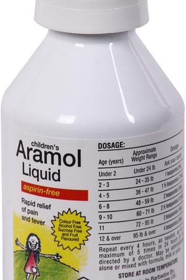 *ARAMOL LIQUID ASPIRIN FREE