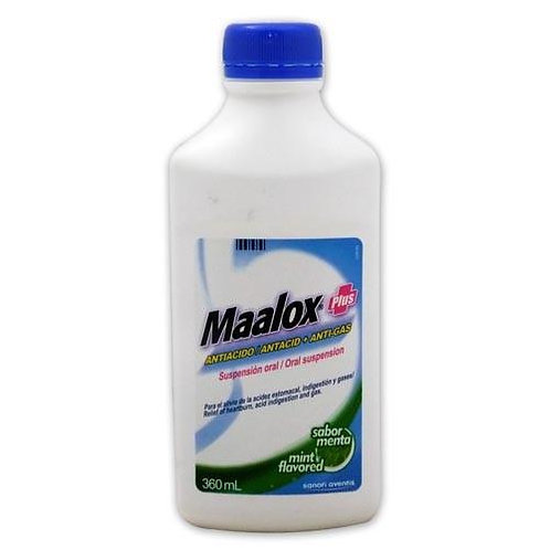 *MAALOX PLUS 360ML MINT