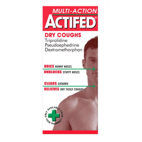 *ACTIFED DRY COUGHS 100ML