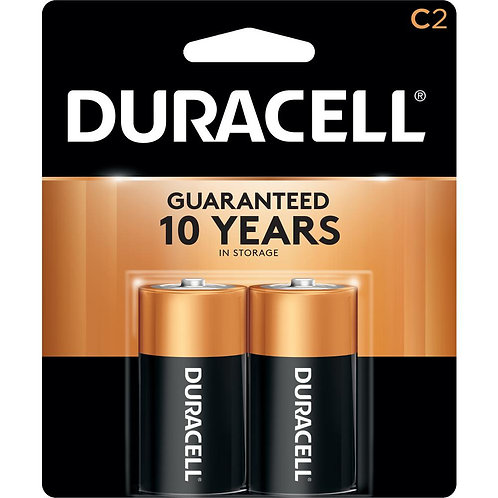 DURACELL C 2PK   BATTERY