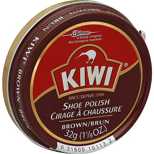 KIWI SHOE POLISH BROWN 32g
