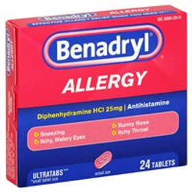 *BENADRYL ALLERGY ULTRATAB  24