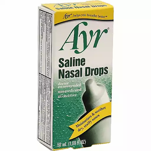 AYR SALINE NASAL DROPS 50ML