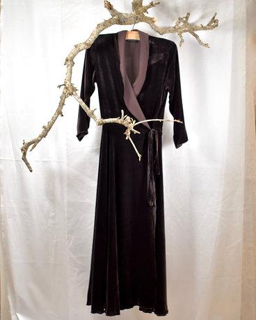 v208 wrap bias dress