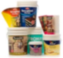 etiquetas in mould, baldes de pintura