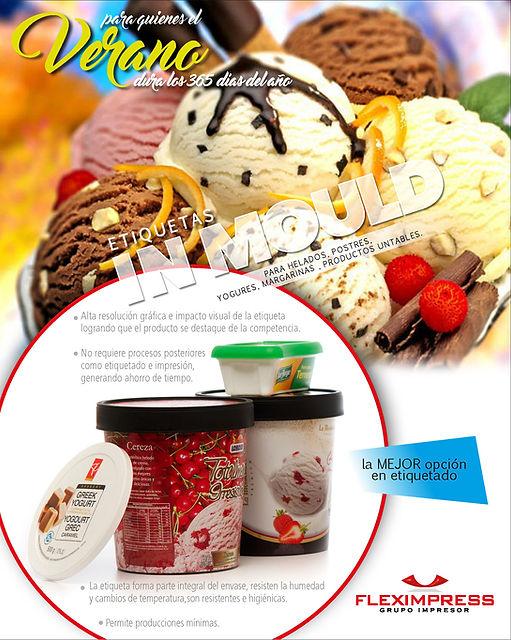 fleximpress, helados, etiquetas, potes, in mold, yogurt, heladerias