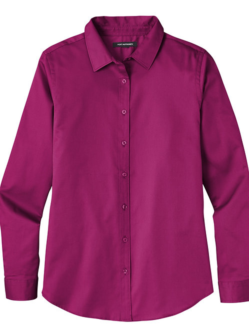 ITEM # VC026: Ladies Long Sleeve Twill Shirt