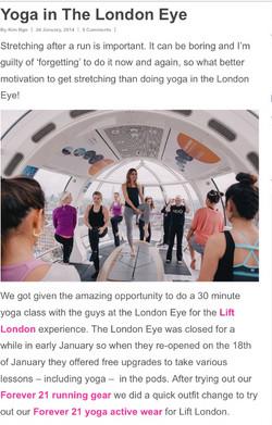 Lift London - Yoga in the London Eye