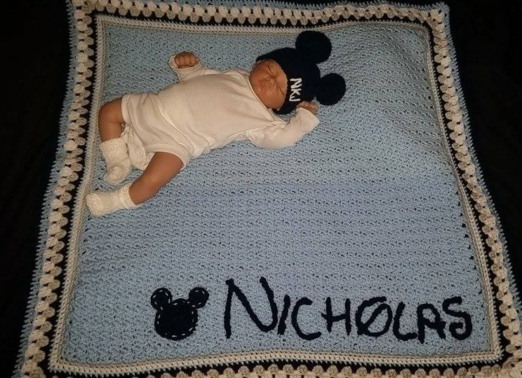 Custom Blanket and Hat
