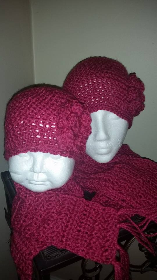 Mommy and Me hat and scarf sets