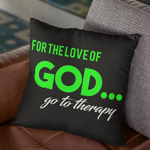 For the Love of GOD Accent Pillow